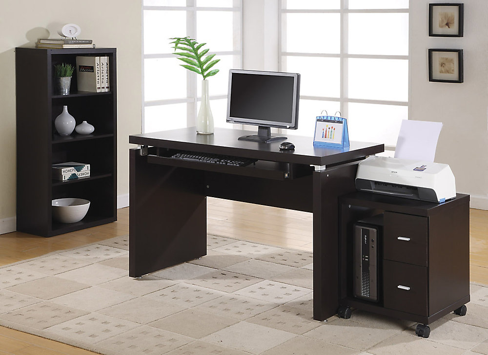 2-Drawer Manufactured Wood Filing Cabinet in Brown