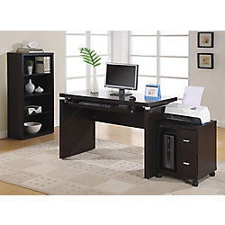 Monarch Specialties 2-Drawer Manufactured Wood Filing Cabinet in Brown