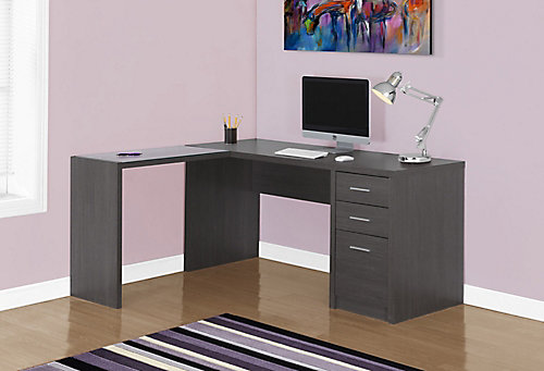 bestar shaped b computer l somerville raw and tuscany brown desk black