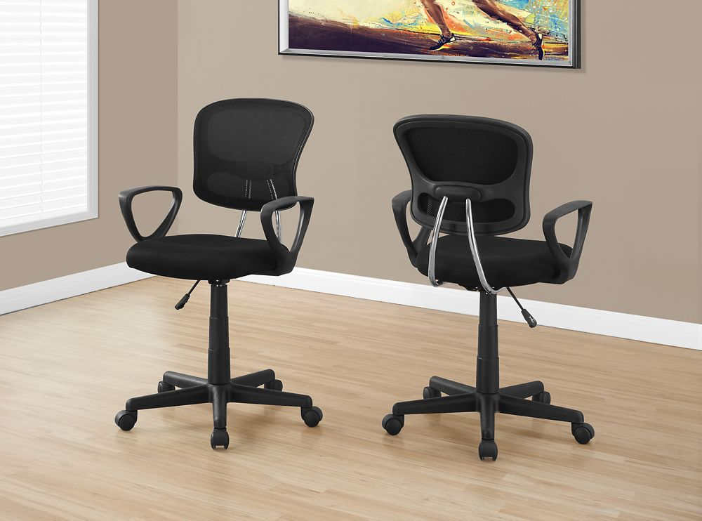 Monarch Specialties Office Chair - Black Mesh Juvenile / Multi-Position