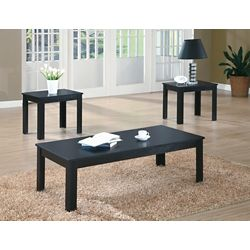 Monarch Specialties Ens de Tables - 3 Pcs / Noir