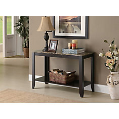 Console Table - 44 Inch L / Cappuccino Marble Top
