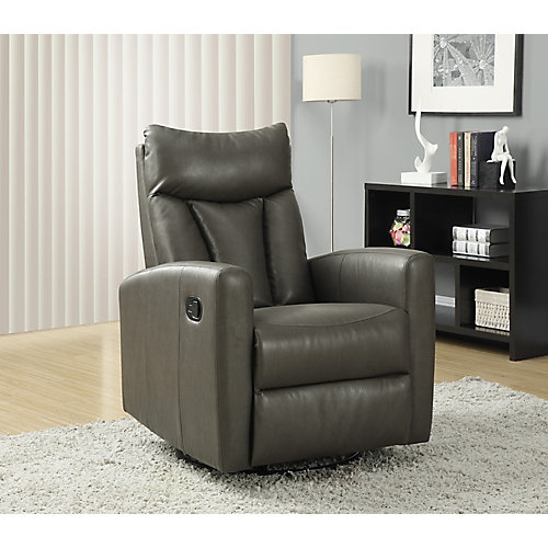 Monarch Specialties Fauteuil Inclinable Bercant Cuir Reconstitue
