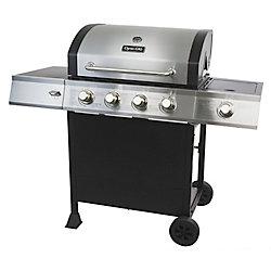 Dyna-Glo 4-Burner Open Cart Propane BBQ with Side-Burner