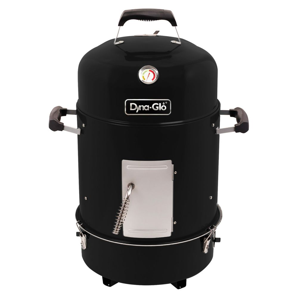 Dyna-Glo Compact Charcoal Bullet Smoker in High Gloss Black
