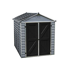 6 ft. x 8 ft. SkyLight Storage Shed in Grey