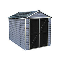 6 ft. x 10 ft. SkyLight Storage Shed in Grey