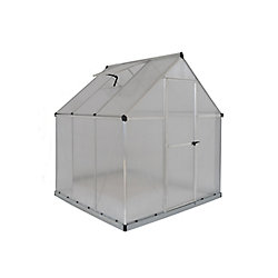 Palram Deluxe 6 ft. x 6 ft. Twin Wall Greenhouse in Silver