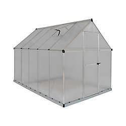 Palram Deluxe 6 ft. x 10 ft. Twin Wall Greenhouse in Silver