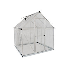 Hybrid 6 ft. x 6 ft. Greenhouse in Silver