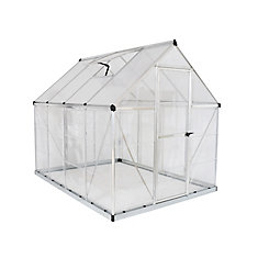 Hybrid 6 ft. x 8 ft. Greenhouse in Silver