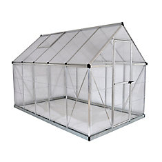 Hybrid 6 ft. x 10 ft. Greenhouse in Silver