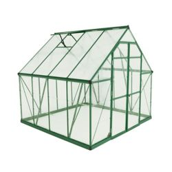 Palram Balance 8 ft. x 8 ft. Greenhouse in Green