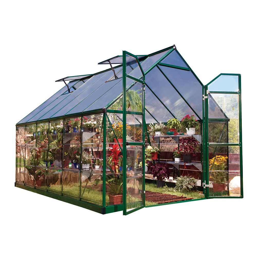 Palram Balance 8 ft. x 12 ft. Greenhouse in Green