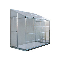 Palram Lean-To Grow House 8 ft. x 4 ft. Aluminum & Polycarbonate Greenhouse