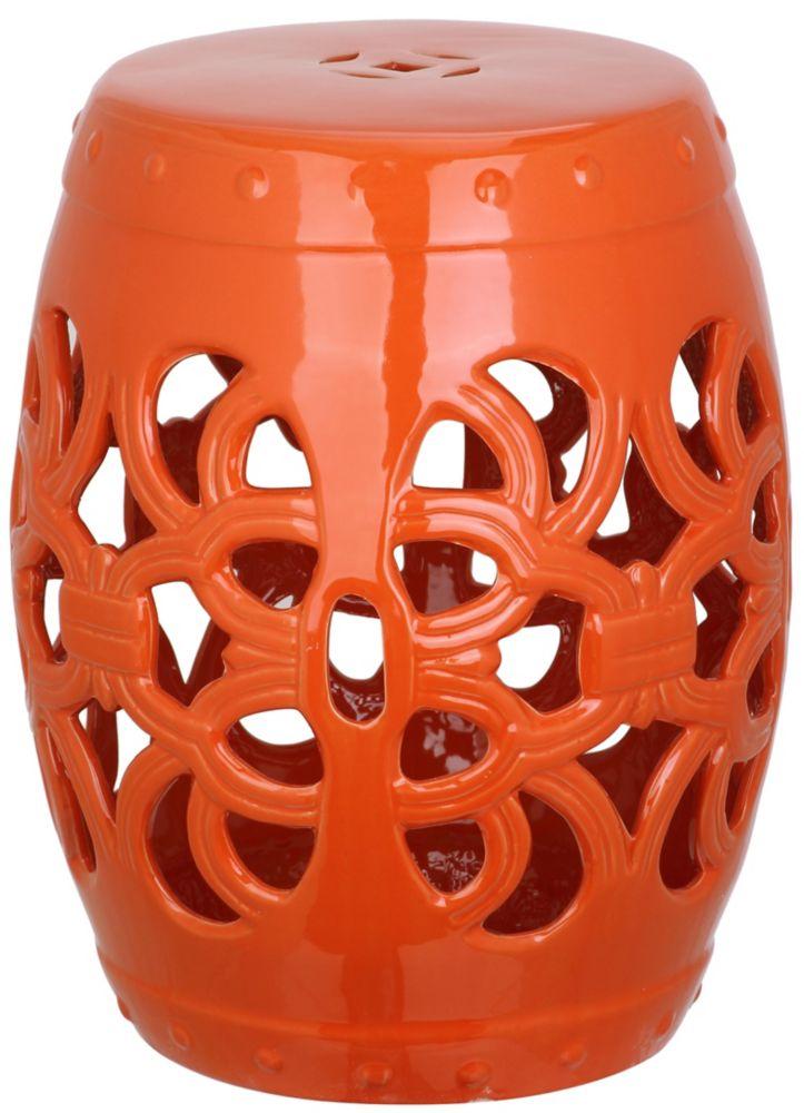 Safavieh Imperial Vine Garden Stool in Orange