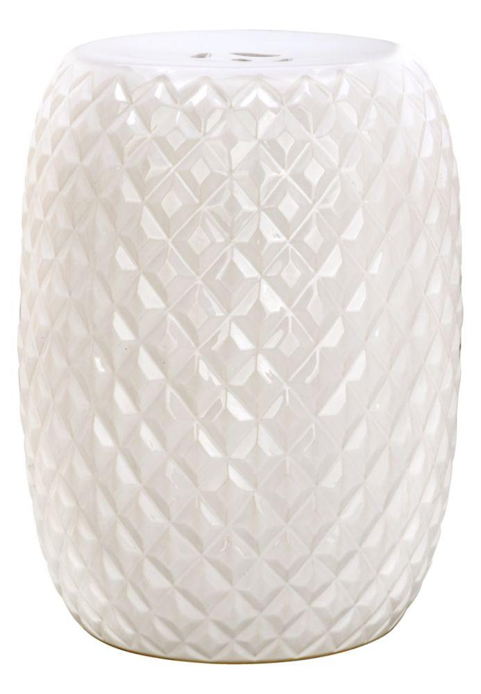 Safavieh Elephant Ceramic Patio Stool In Silver The Home