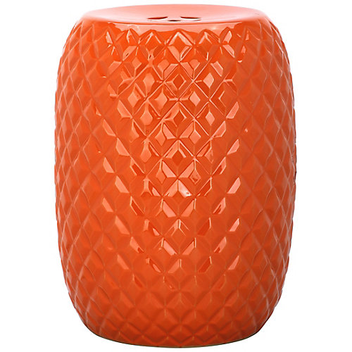 Calla Garden Stool in Orange