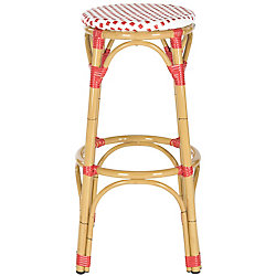 Safavieh Kipnuk Indoor/Outdoor Stool in Red and White