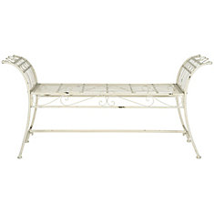 Banc Hadley en finition Blanc Antique