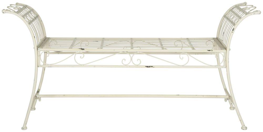 Safavieh Hadley Bench in Antique White