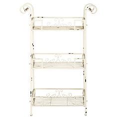 Noreen 3-Tier Shelf in Antique White