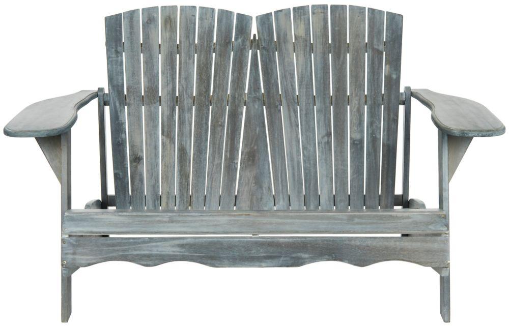 Safavieh Hantom Muskoka Bench in Ash Grey
