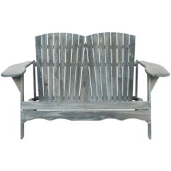 Safavieh Hantom Muskoka Bench in Ash Grey