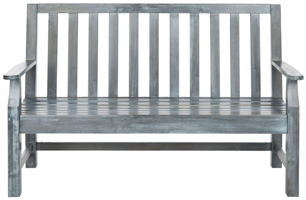 safavieh banc indaka en finition gris cendr home depot canada. Black Bedroom Furniture Sets. Home Design Ideas