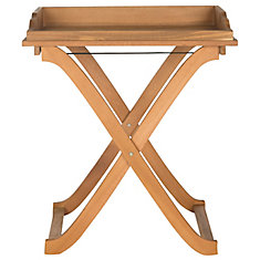 Covina Patio Tray Table in Teak Brown