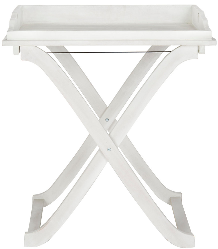 Magnificent Covina Tray Table In Antique White Home Interior And Landscaping Fragforummapetitesourisinfo