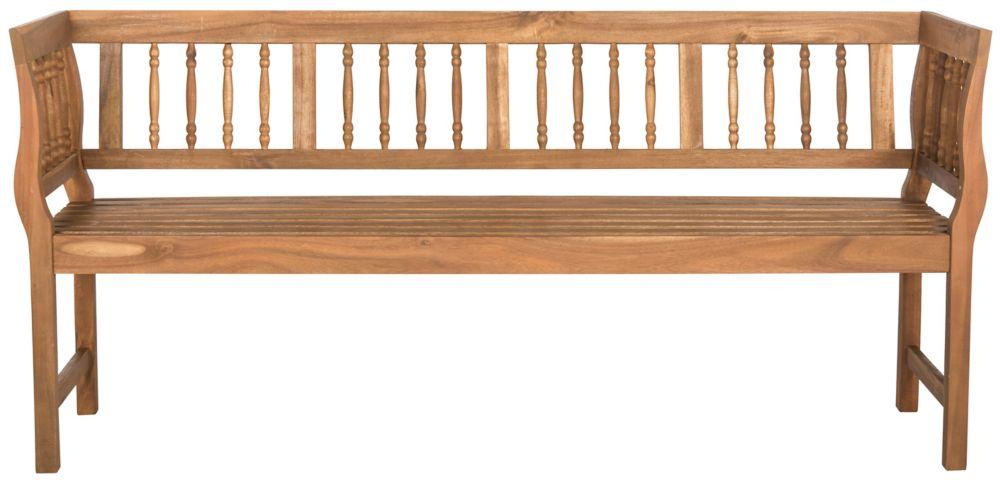 Safavieh Brentwood Patio Bench in Teak