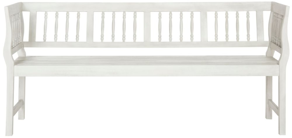 Safavieh Brentwood Patio Bench in Antique/White