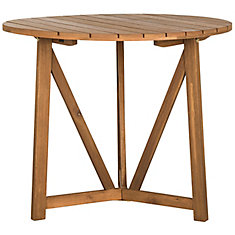 Cloverdale Round Patio Table in Teak