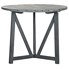 Cloverdale Round Patio Table in Ash Grey