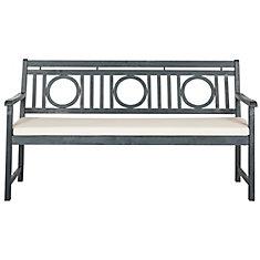 Montclair 3-Seat Patio Bench in Ash Grey/Beige