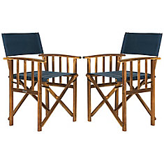 Lagunda Patio Director Chair in Dark Green (Set of 2)
