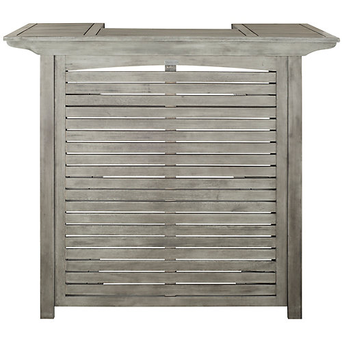 Montery Patio Bar Table in Grey Wash