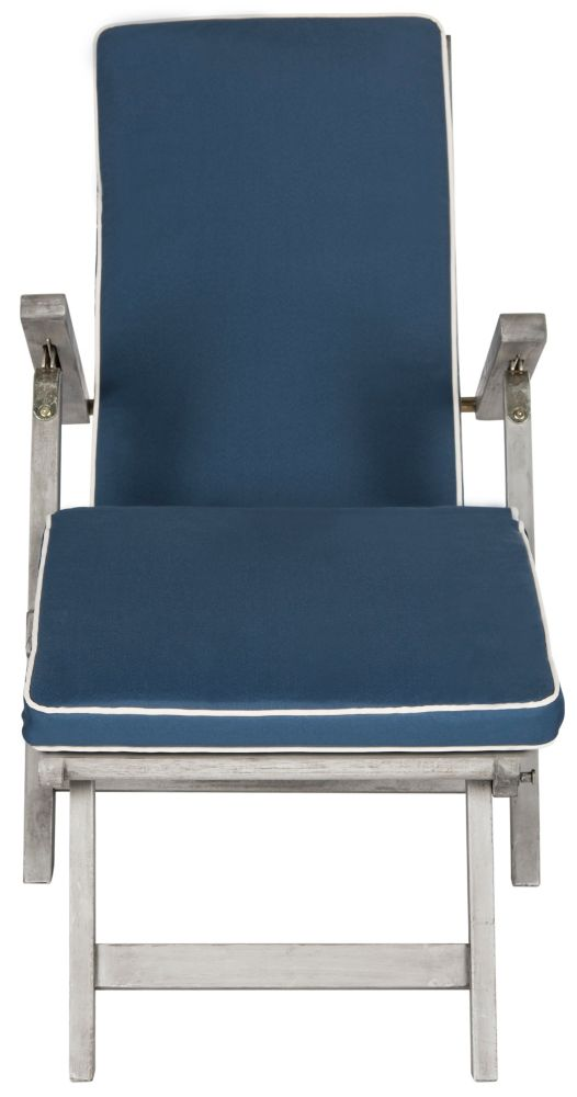 Safavieh Palmdale Lounge Chair in Grey/Navy