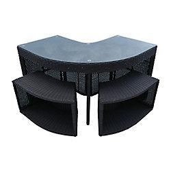 Canadian Spa Company Table de Bar de Coin & 2 Tabourets - Square Spa Surround Furniture