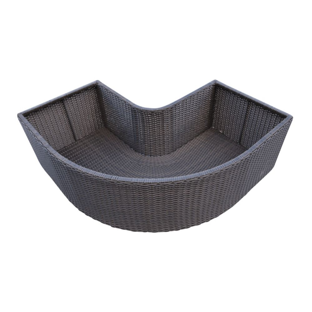 Canadian Spa Company Corner Planter - Square Spa Surround Furniture