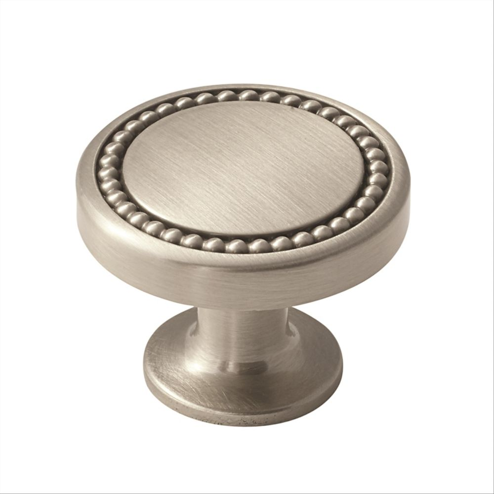 Amerock Carolyne 1-3/8-inch (35 mm) Satin Nickel Cabinet Knob
