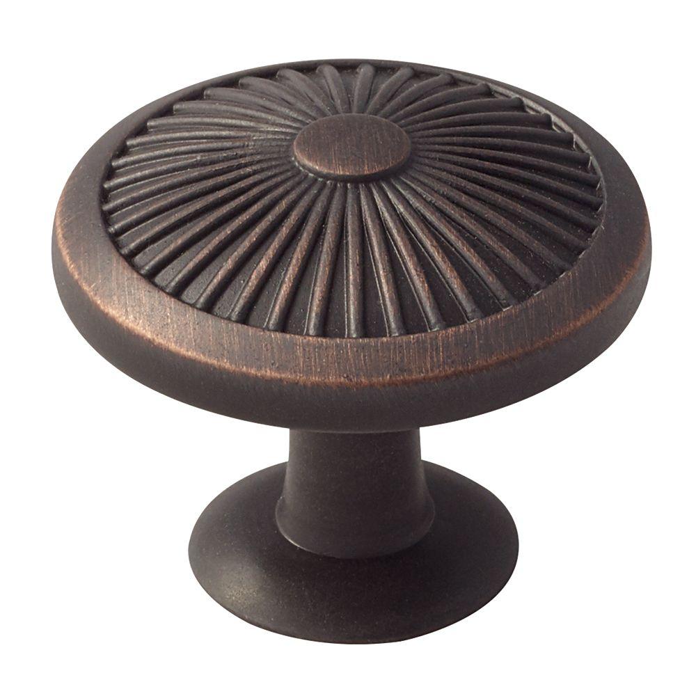 Amerock Crawford 1-3/8 Inch (35mm) DIA Knob - Oil-Rubbed Bronze