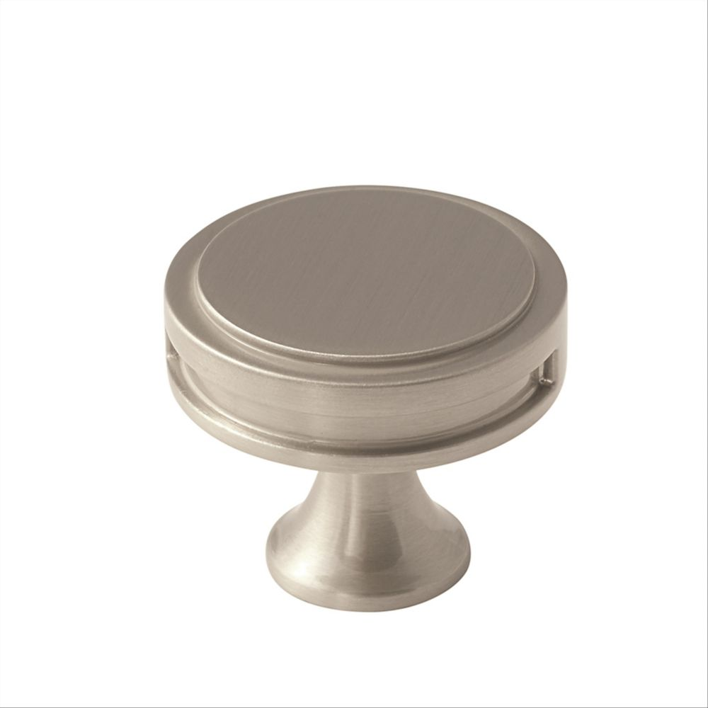 Amerock Oberon 1-3/8 Inch (35mm) DIA Knob - Satin Nickel