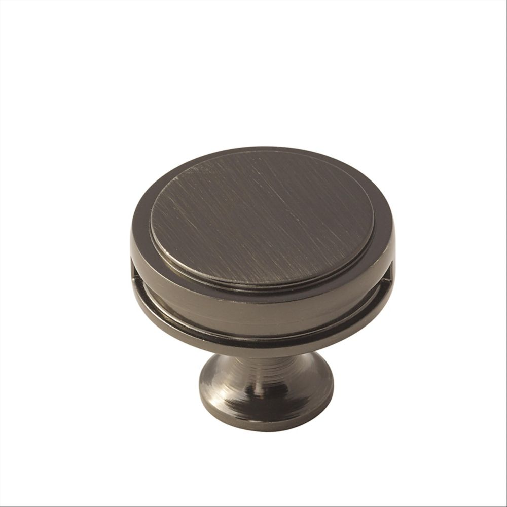 Oberon 1-3/8 Inch (35mm) DIA Knob - Gunmetal