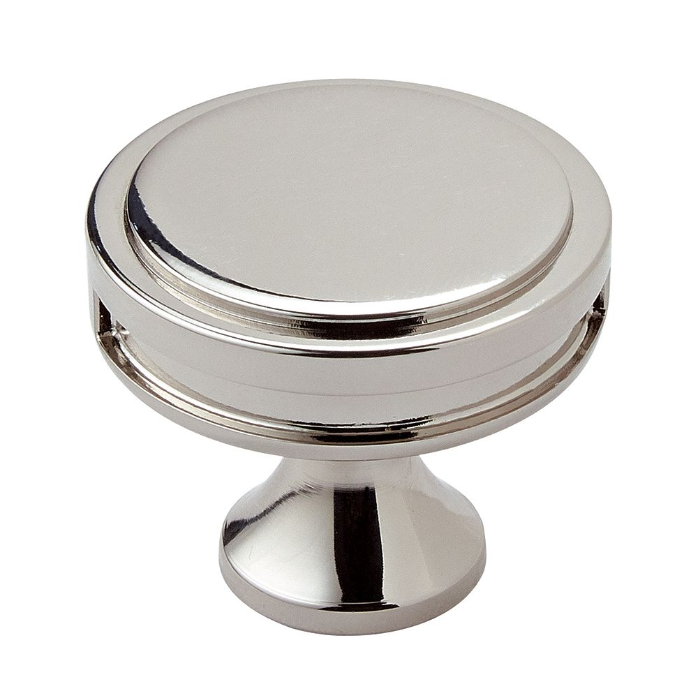 Amerock Oberon 1-3/8-inch (35 mm) Polished Nickel Cabinet Knob
