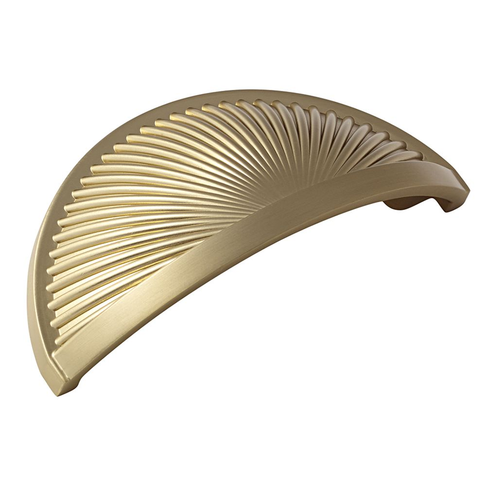 Amerock Sea Grass 3 Inch (76mm) CTC Cup Pull - Golden Champagne