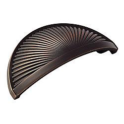 Amerock Poignée en forme de coupe centres à 3 po (76mm)  Sea Grass - Bronze huilé