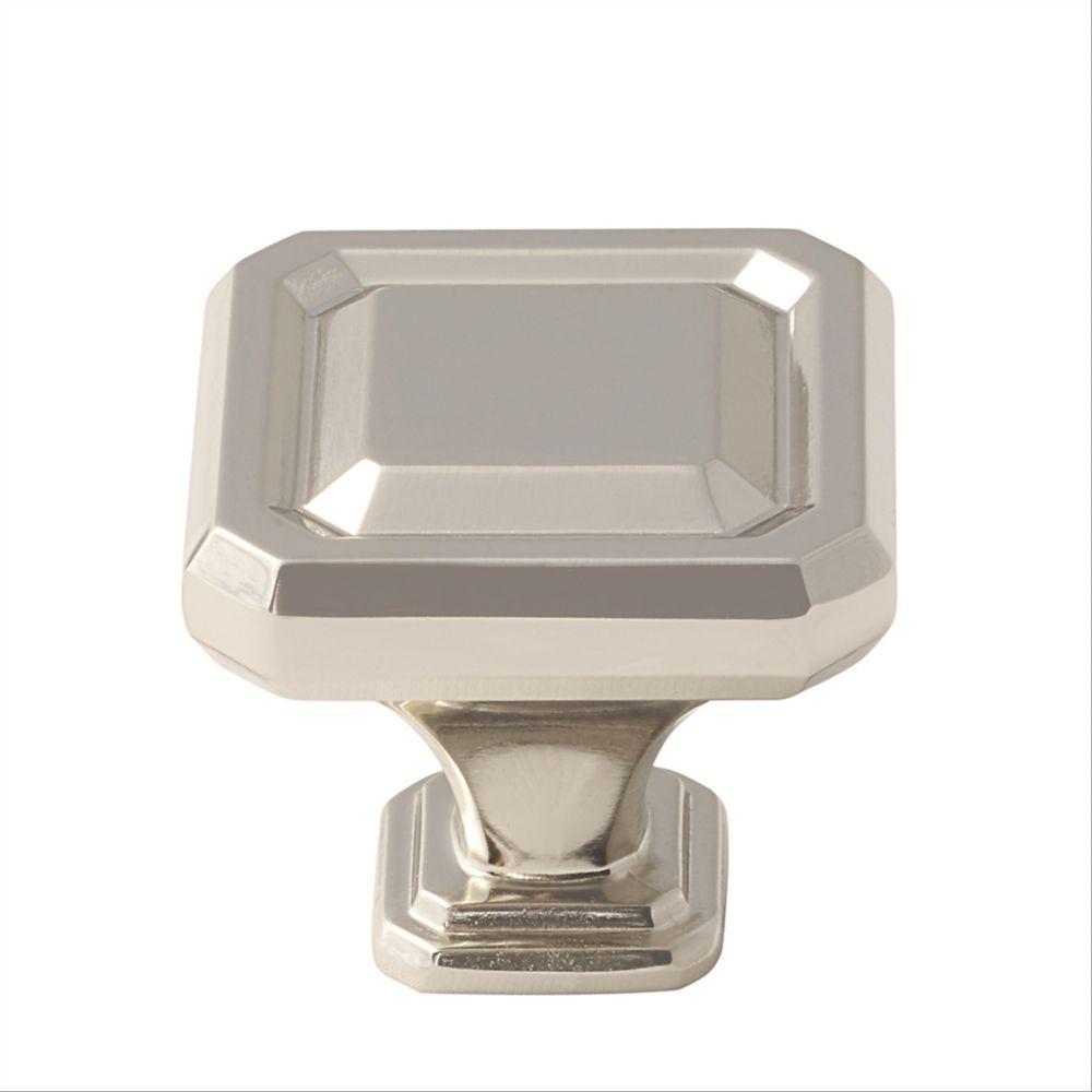Amerock Wells 1-1/2 Inch (38mm) LGTH Knob - Polished Nickel