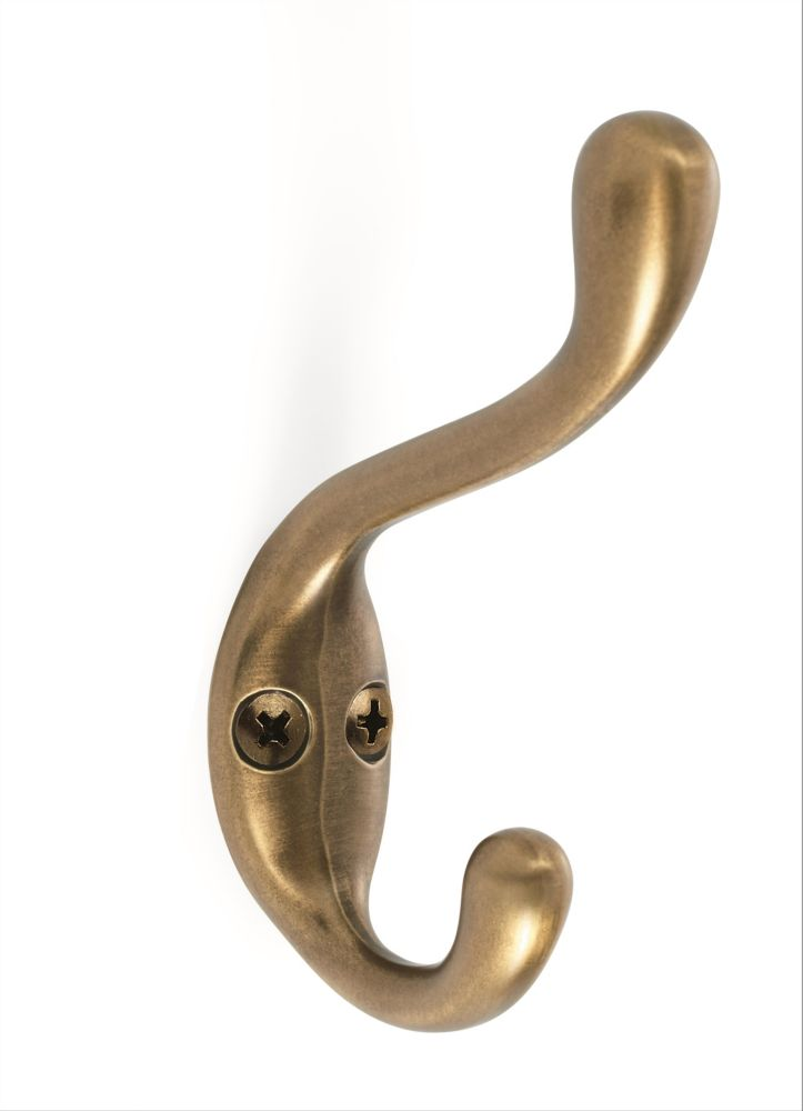 Medium Coat and Hat Hook - Gilded Bronze